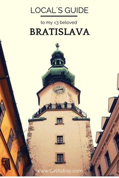 Bratislava guide with a map by a local