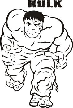 hulk pictures to color  Free Printable Hulk Coloring Pages For