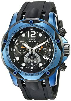 cc5981c362 Amazon.com  Invicta Men s 20074SYB Speedway Analog Display Swiss Quartz  Black Watch  Invicta  Watches