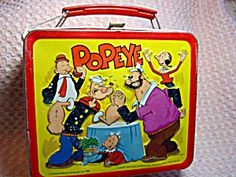 Popeye Lunchbox, 1980 Aladdin. Click on the image for more information.