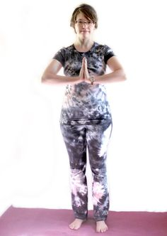 Yoga pants and matching Tshirt  Black and by TieDyeRedeemedByRed, $60.00