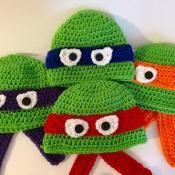 Ninja Turtle Hat Pattern - via @Craftsy