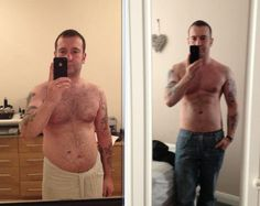 Before and After Body Transformation.