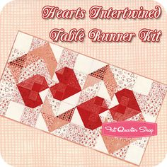 Hearts Intertwined Table Runner Kit Sandy Gervais for Moda Fabrics