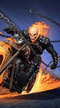 Obtain Superhero wallpapers. Ghost Rider Film, Ghost Rider Drawing, Ghost Rider Marvel, Ghost Rider Images, New Ghost Rider, Marvel Comics Art, Marvel Comic Universe, Marvel Heroes, Marvel Characters