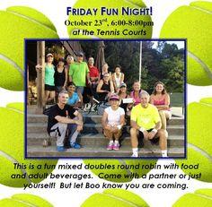 Hoover Country Club tennis Friday Fun Night. 2015