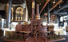 Chocolate Replica of Toothsome Chocolate Emporium at Universal Orlando - Cake by Paul Joachim Chocolate Crafts, Chocolate Art, Chocolate Sculptures, Cupcake Cookies, Cupcakes, Universal Orlando, Amazing Cakes, Sculpture Art, Wedding Cakes