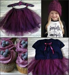 Купить Детская юбка из фатина и детский трикотаж - бордовый, однотонный, юбка из фатина, балетная пачка