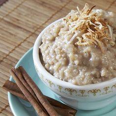 SPICY CHAI RICE PUDDING - Jasmine rice, chai tea, coconut milk and hot pepper make this dairy- free vegan dessert sinfully good
