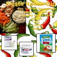 Fiesta Ranch Dip. Get the Vi-shape mix at www.Justshakeyour.bodybyvi.com
