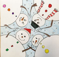 This is a fun project I came across on Artsonia by Blue Mountain Elementary students. I love the different perspective and that each picture can still be individualized. I've shared pictures …