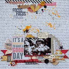 2 pages pour le scrapbooking day chez Kesi'art