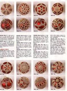Boże Narodzenie - bombki - Urszula Niziołek - Picasa Web Albums Thread Crochet, Lace Knitting, Knitting Stitches, Crochet Christmas Decorations, Christmas Crochet Patterns, Christmas Balls, Christmas Crafts, Christmas Ornaments, Christmas Ideas