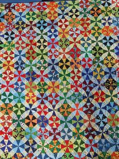 Kaleidoscope quilt- wish I was talented enough to make this!