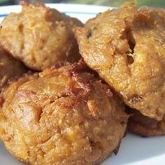 These green plantains are mashed and mixed with peanut butter, salt and then baked.  Delicious!  This is a South American dish that I usually serve with eggs for breakfast.