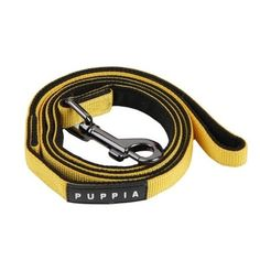 The Puppia Yellow Two-Tone Dog Lead matches the best-selling Puppia Soft Harness in unparalleled style and quality. Made of 100% polyester, this authentic Puppia Two-Tone Dog Leash features inner and outer contrasting black and yellow colors, a sturdy, ni