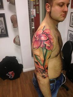 You guys know Voller Kontrast from Germany? Here's one tattoo done by him. German Tattoo Scene. #tattoo #tattoos #ink
