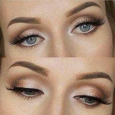 maquillage paupiere en beige doré pour yeux bleus        maquillage paupiere en beige doré pour yeux bleus - #beige #bleus #dore #En #maquillage #paupiere #pour #yeux
