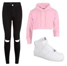 """Simple but cute"" by victor-y ❤ liked on Polyvore featuring NIKE"