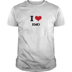 Cool I Love EMO Shirt; Tee
