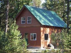 small A frame cabins with lofts   Onebuilt version of the house without the porch .