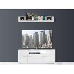 TV-Element und Wandboard Vision Weiß Hochglanz Jetzt bestellen unter: https://moebel.ladendirekt.de/wohnzimmer/tv-hifi-moebel/tv-lowboards/?uid=7098b36d-e36e-5169-863e-09a473395bae&utm_source=pinterest&utm_medium=pin&utm_campaign=boards #wohnen>möbel>schränke>tvschränke #tvlowboards #wohnzimmer #tvhifimoebel Bild Quelle: obi.de