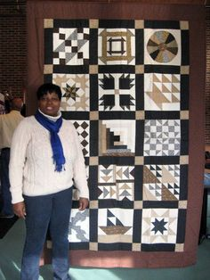 Underground Railroad Quilt. iconic blocks and superb colour choice.
