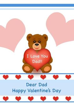 Free Printable Valentineu0027s Day Card For Dad   My Free Printable Cards.