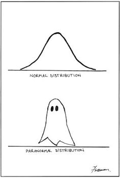 Paranormal Distribution. Yay for math humor!