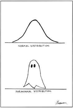 Paranormal Distribution. Yay for math humor!