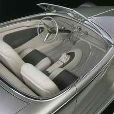 (Chip Foose by Foose Design) - Car World Chip Foose, Custom Car Interior, Truck Interior, Bmw Z3, Car Interior Upholstery, Auto Upholstery, Classic Trucks, Classic Cars, Ford Roadster