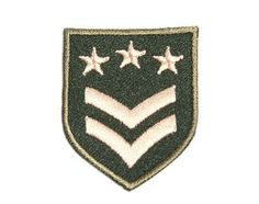 Iron-on Patch / Grade Badge / Embroidery / Military Patches / Army Badge Red Star / Insignia
