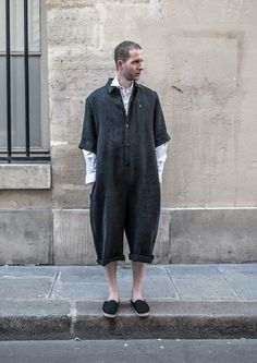 This ( in my humble opinion) is fashion gone wrong!!! It looks like an adult onesie, for crying out loud! If I see ANY of you wearing this atrocity, I tell you gentlemen right now, I will be morally obligated to laugh and publicly degrade you until you cry. Fair Warning...