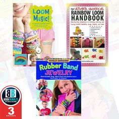 Rubber Band Loom Magic 3 Books Collection Set at Best Price. #LoomMagic #RubberBand #Books #childrensbooks #kidsbooks