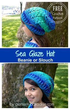 Free Crochet Pattern: Sea Glaze Hat | Pattern Paradise