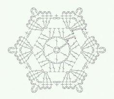 Crochet Snowflake Pattern, Crochet Stars, Crochet Snowflakes, Crochet Flower Patterns, Thread Crochet, Crochet Flowers, Crochet Stitches, Crochet Diagram, Crochet Motif