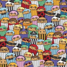 Super-Colourful Cakes Pattern by Cakes with Faces www.cakeswithfaces.co.uk