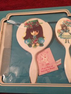 Vintage 70's Comb Brush Mirror Set-- New In Box Beautiful!! Rare