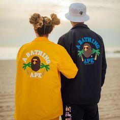 "ef0d2ec7e762 A BATHING APE® on Instagram  ""BAPE STORE® LA 1st Anniversary Coach Jacket"