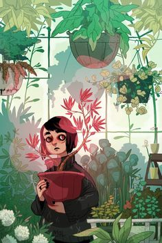Greenhouse, an art print by Michelle Lamoreaux Tag Art, Character Art, Character Design, Aesthetic Art, Graphic, Amazing Art, Awesome, Art Inspo, Art Reference