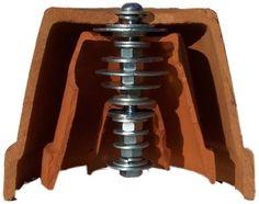 Le détails de la fabrication d'un petit chauffage d'appoint avec des pots en céramique.