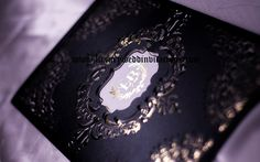 Gold Foil Laser Cut Wedding Invitations Black and Gold Luxury London A Set Of…