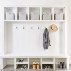 Mudroom Necessities Storage Hooks And A Bench