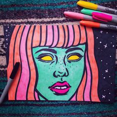 bought a huge pack of super cool sharpies that... | Robin Eisenberg