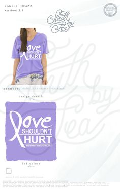Love Shouldn't Hurt | Alpha Chi Omega | AXO | Alpha Chi Omega Against Domestic Violence | South by Sea | Greek Tee Shirts | Greek Tank Tops | Custom Apparel Design | Custom Greek Apparel | Sorority Tee Shirts | Sorority Tanks | Sorority Shirt Designs