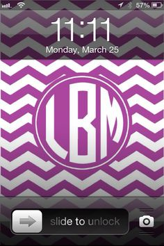 DIY Monogram iPhone Wallpaper & Calenders