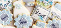 Wedding favor cookies from Etsy Logo Cookies, Baby Cookies, Baby Shower Cookies, Iced Cookies, Cute Cookies, Royal Icing Cookies, Sugar Cookies, Animal Cookie Cutters, Custom Cookie Cutters