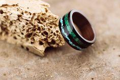 Items similar to Makassar ebony bentwood ring lined with walnut wood and double stone inlay, malachite an turquoise on Etsy Makassar, Wood Rings, Walnut Wood, Malachite, Handcrafted Jewelry, Rings For Men, Jewelry Making, Wedding Rings, Wedding Ideas