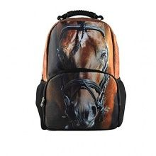 Outlet-Seller Custom Handsome Horse Backpack Kid's School Bag ...