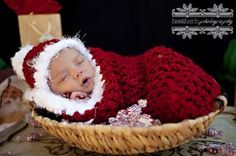 THIS IS FOR THE COCOON ONLY. This gorgeous red and white Santa Claus newborn photography cocoon prop is made from a super soft acrylic boucle yarn with fu Christmas Quotes, Christmas Baby, Christmas Pictures, Christmas Trees, Christmas Nails, Christmas Crafts, Christmas Outfits, Christmas Decorations, Xmas